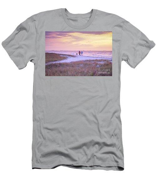 Sunrise Stroll On The Beach Men's T-Shirt (Athletic Fit)