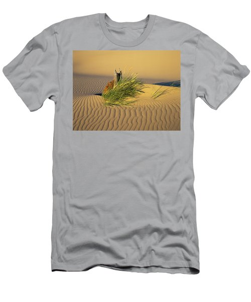 Beachgrass And Ripples Men's T-Shirt (Athletic Fit)