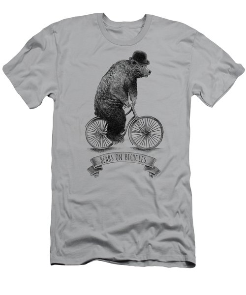 Bears On Bicycles Men's T-Shirt (Athletic Fit)
