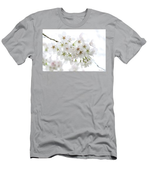 Beautiful White Cherry Blossoms Men's T-Shirt (Athletic Fit)