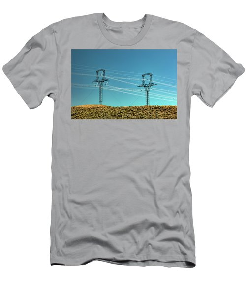 Beautiful White Lines Men's T-Shirt (Athletic Fit)