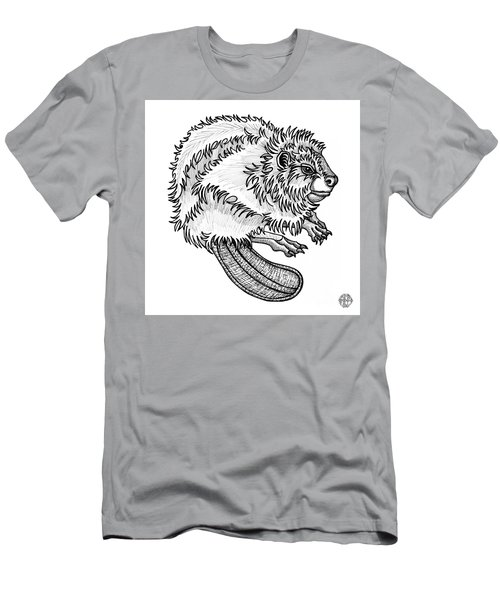 Beaver Men's T-Shirt (Athletic Fit)