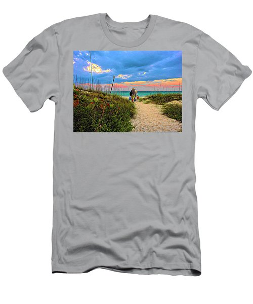 Beginning Of A Fishing Story Men's T-Shirt (Athletic Fit)