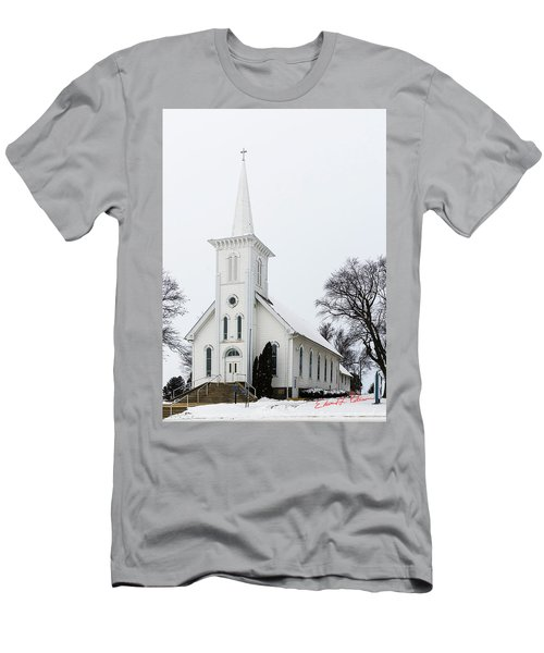 Men's T-Shirt (Athletic Fit) featuring the photograph Bethesda Iowa Country Church by Edward Peterson