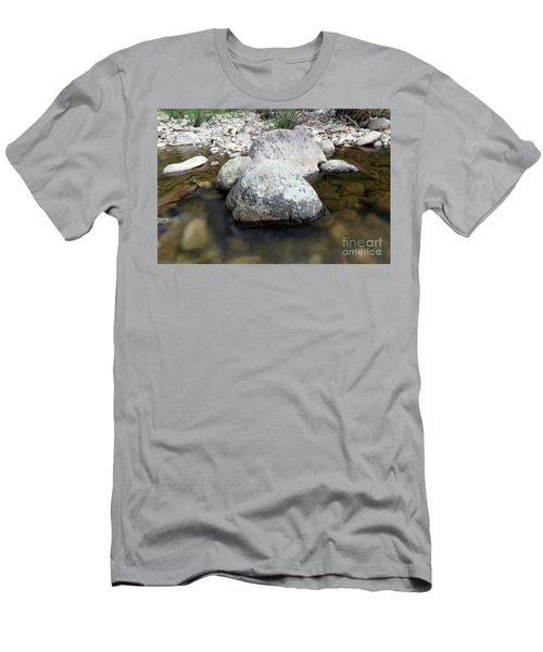 Big Rocks In The Calm Water Men's T-Shirt (Athletic Fit)