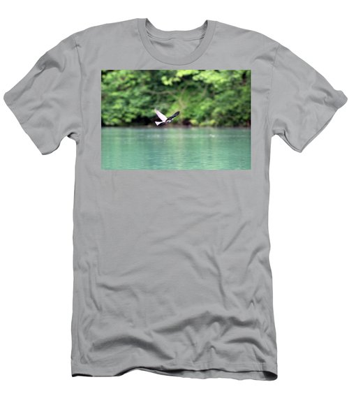Men's T-Shirt (Athletic Fit) featuring the photograph Bird In Flight by W And F Kreations