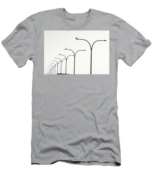 Birds Watch Over Queensway Bridge Men's T-Shirt (Athletic Fit)