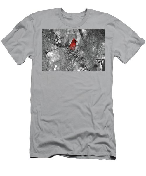Black And White With A Splash Of Color Men's T-Shirt (Athletic Fit)