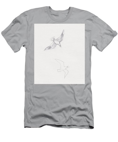 Black-billed Gulls Men's T-Shirt (Athletic Fit)