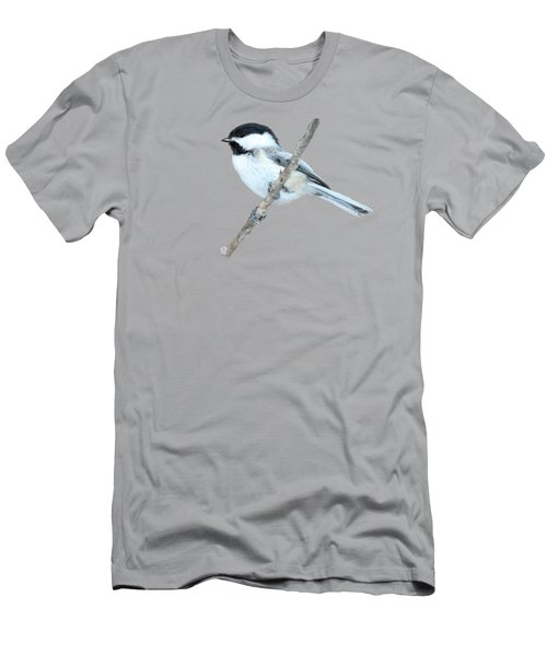Black-capped Chickadee In Spring Men's T-Shirt (Athletic Fit)