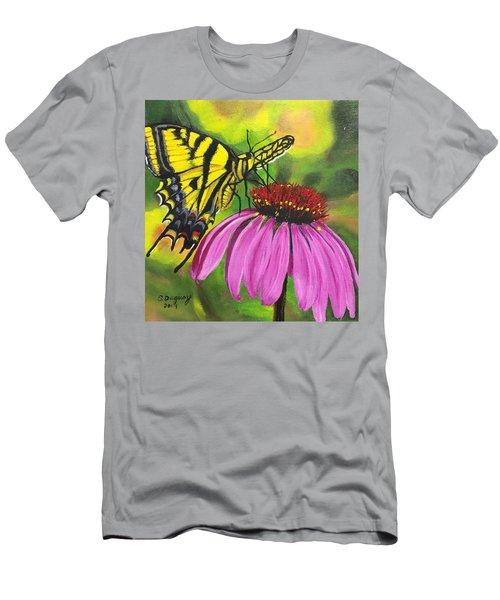 Black-sampson Echinacea Men's T-Shirt (Athletic Fit)