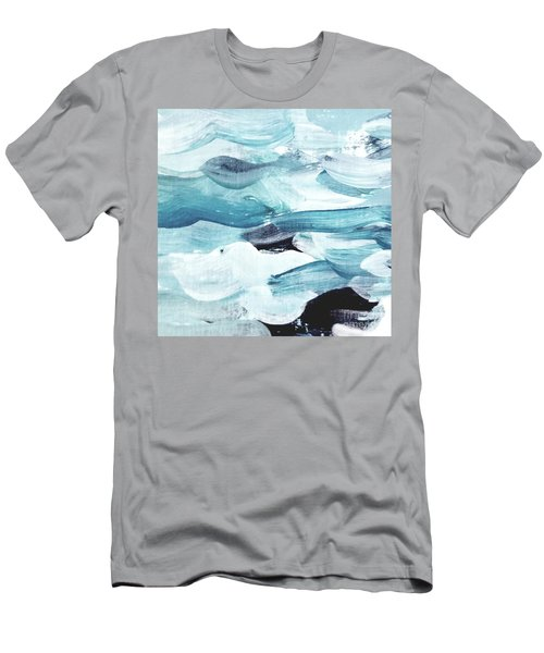 Men's T-Shirt (Athletic Fit) featuring the painting Blue #13 by Maria Langgle