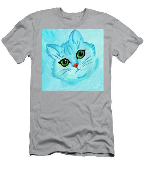 Blue Cat Men's T-Shirt (Athletic Fit)