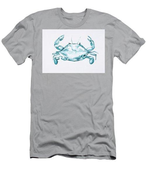 Blue Crab Turcoise Men's T-Shirt (Athletic Fit)