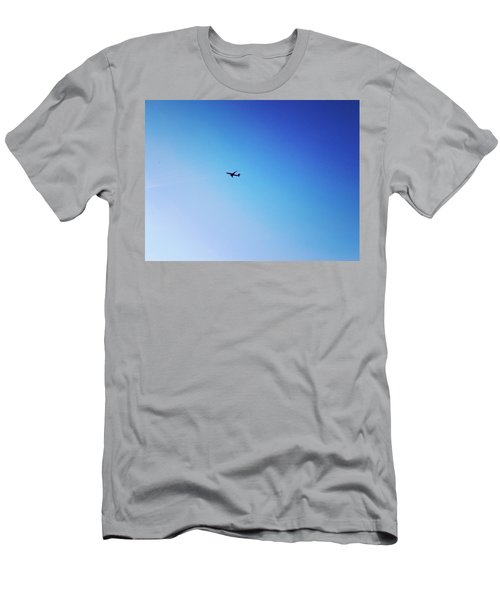 Men's T-Shirt (Athletic Fit) featuring the photograph Blue Freedom by Lucia Sirna