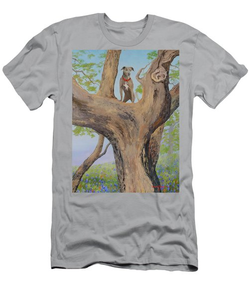 Blue Lacey In A Tree Men's T-Shirt (Athletic Fit)