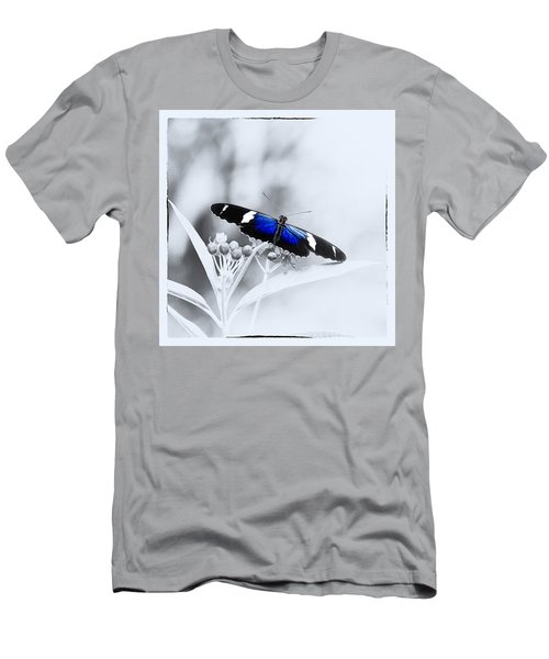 Blue Postman Butterfly Men's T-Shirt (Athletic Fit)