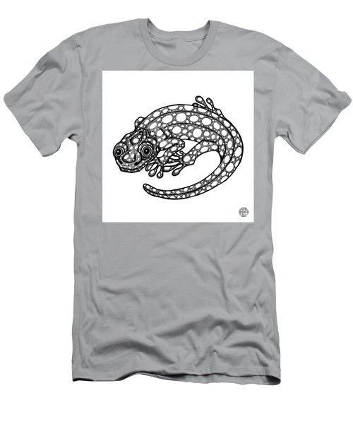 Blue Spotted Salamander Men's T-Shirt (Athletic Fit)