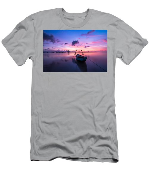 Boat Under The Sunset Men's T-Shirt (Athletic Fit)