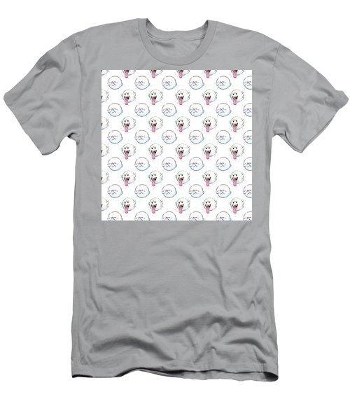 Boo Ghost Pattern Men's T-Shirt (Athletic Fit)