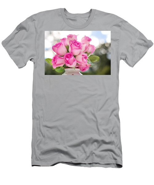 Bouquet Of Pink Roses Men's T-Shirt (Athletic Fit)