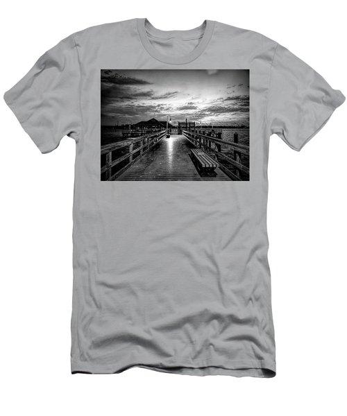 Bradenton Beach City Pier Men's T-Shirt (Athletic Fit)