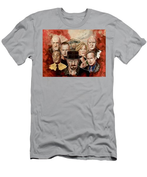 Men's T-Shirt (Athletic Fit) featuring the painting Breaking Bad Family Portrait by Joel Tesch