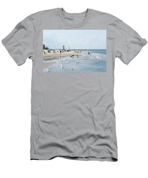 Breezy Point Lighthouse Summer Days Men's T-Shirt (Athletic Fit)