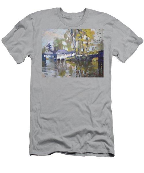 Bridge To Boathouses  Men's T-Shirt (Athletic Fit)