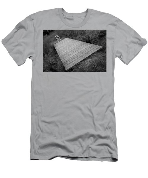 Men's T-Shirt (Athletic Fit) featuring the photograph Bridge To Cross The Chair Project by Dutch Bieber