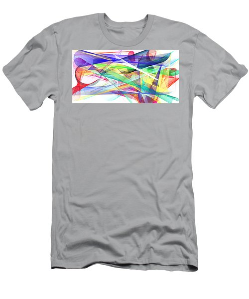 Bright Abstract 2 Men's T-Shirt (Athletic Fit)