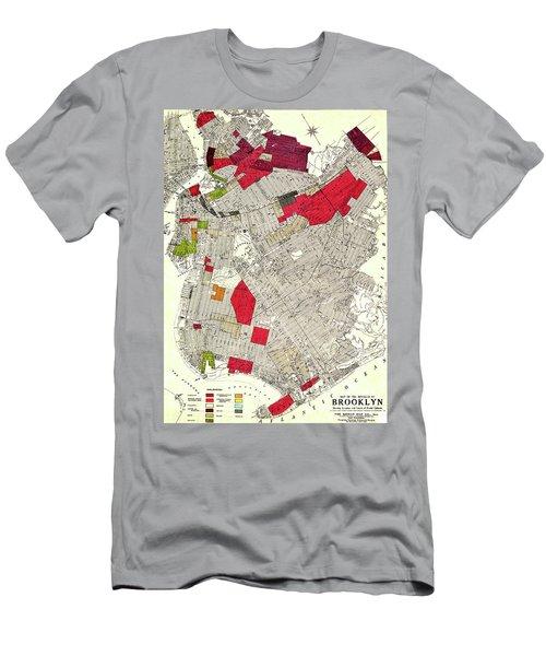 Brooklyn New York Racial Colonies Map 1920 Men's T-Shirt (Athletic Fit)