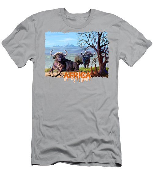 Buffaloes And The Mountain Men's T-Shirt (Athletic Fit)