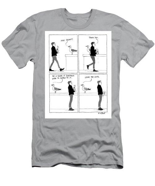 Bullying Bird Men's T-Shirt (Athletic Fit)