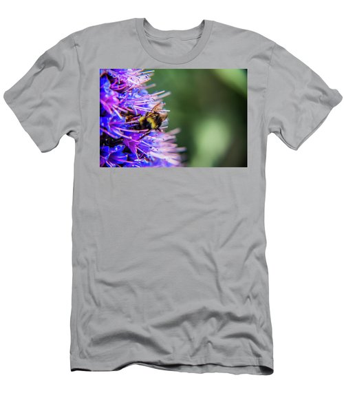Men's T-Shirt (Athletic Fit) featuring the photograph Busy Bee 2 by Stuart Manning