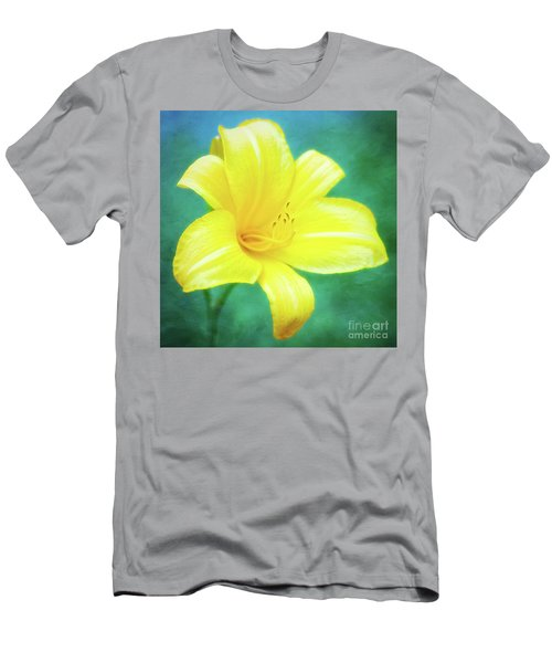 Buttered Popcorn Daylily In Her Glory Men's T-Shirt (Athletic Fit)