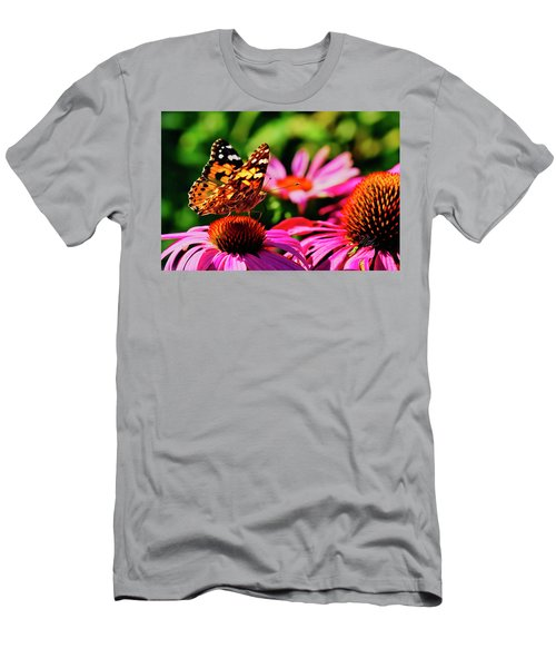Men's T-Shirt (Athletic Fit) featuring the photograph Butterfly Side by Meta Gatschenberger