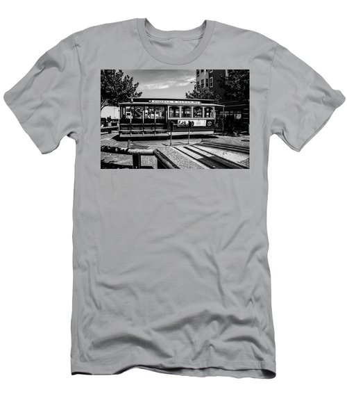 Men's T-Shirt (Athletic Fit) featuring the photograph Cable Car Turn Around by Stuart Manning