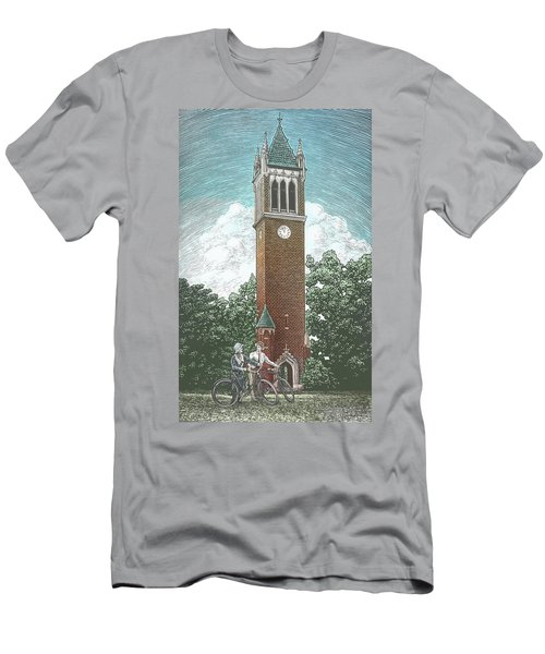 Men's T-Shirt (Athletic Fit) featuring the drawing Campanile 1928 by Clint Hansen