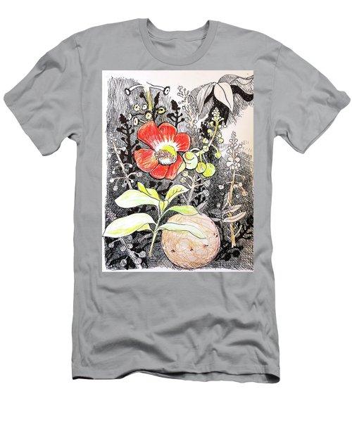 Cannonball Flower Botanical Men's T-Shirt (Athletic Fit)