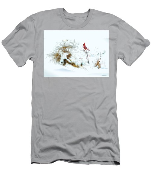 Cardinal Angel In The Snow Men's T-Shirt (Athletic Fit)