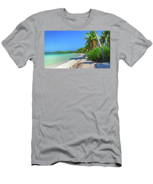 Caribbean Palm Beach Men's T-Shirt (Athletic Fit)