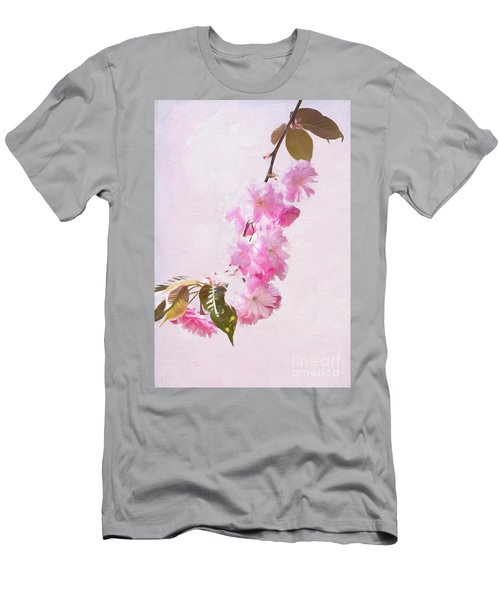 Cascading Kwanzan Cherry Blossoms Men's T-Shirt (Athletic Fit)