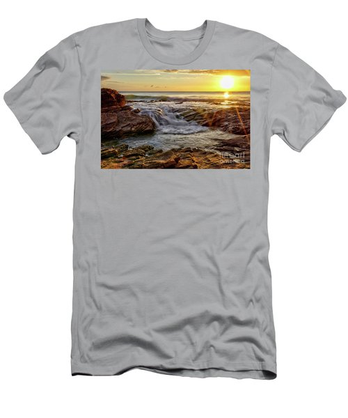 Cascading Sunset At Crystal Cove Men's T-Shirt (Athletic Fit)