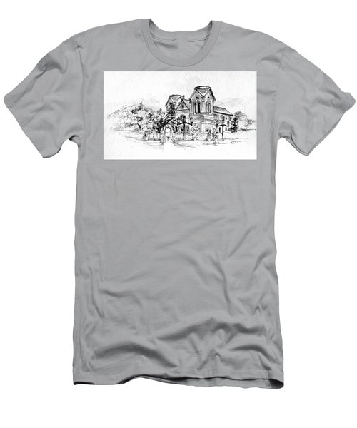 Cathedral Basilica Of St. Francis Of Assisi - Santa Fe, New Mexico Men's T-Shirt (Athletic Fit)