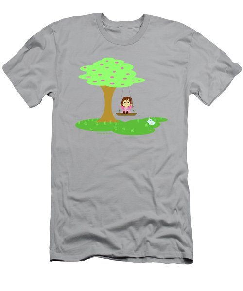 Cathy And The Cat Play In The Swing Men's T-Shirt (Athletic Fit)