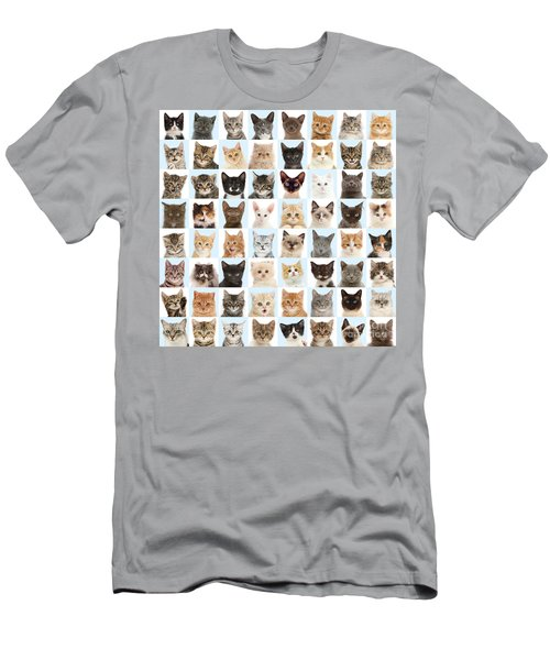 Men's T-Shirt (Athletic Fit) featuring the photograph Cats Or Chess by Warren Photographic