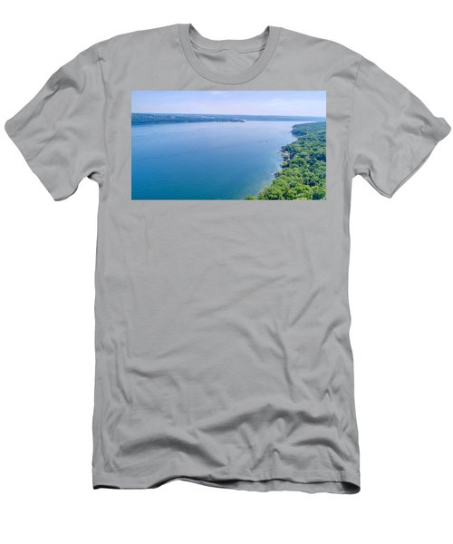 Cayuga From Above Men's T-Shirt (Athletic Fit)