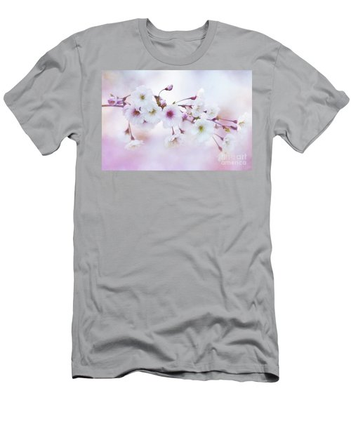 Cherry Blossoms In Pastel Pink Men's T-Shirt (Athletic Fit)