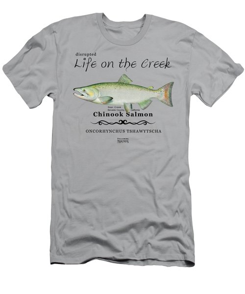 Chinook Salmon Disrupted Men's T-Shirt (Athletic Fit)